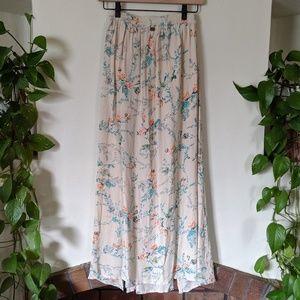 Billabong | Floral Maxi Skirt with Slits